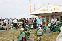 Dennis exhibiting their range of world class turf maintenance equipment