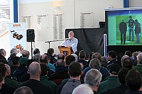 Over 200 cricket groundsmen attended the recent Dennis and SISIS cricket groundsmen seminar held at St Albans School Trust.