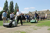 Dennis Mowers in action at Cheltenham College