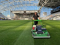 Dennis PRO 34R a time saver at the Forsyth Barr Stadium in New Zealand.
