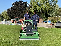 King Edward's School head groundsman Garry Watson has praised the Dennis PRO 34R rotary mower