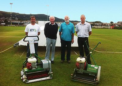 Prestatyn Cricket Club with their mowers