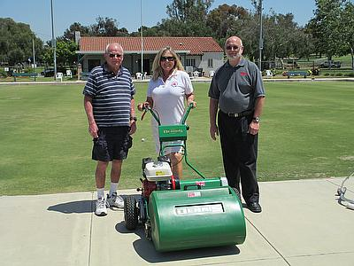 Long Beach BC purchased a Dennis FT610 to meet their bowling green maintenance requirements