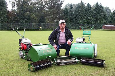 Canonbie Bowls Club Greenkeeper Bill Mitchell chose a new Dennis FT510 after using the previous model for 15 years.