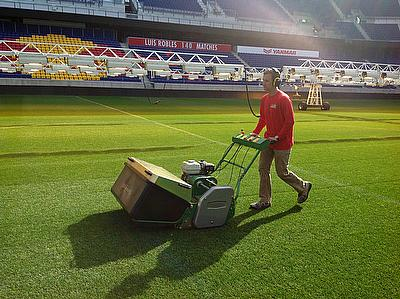 Dennis G34D helping to maintain the pitch at New York Red Bulls