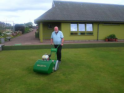 Mike Bailey with the clubs Dennis FT510
