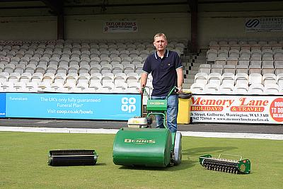 The Dennis FT510 helping to maintain the green at Waterloo Hotel Bowls Club